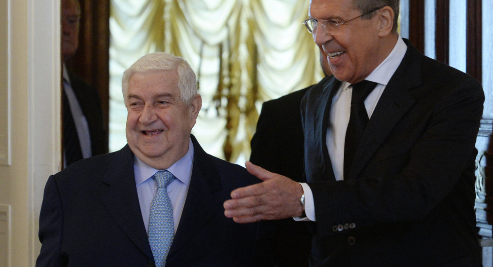 Sergei Lavrov e Walid Muallem