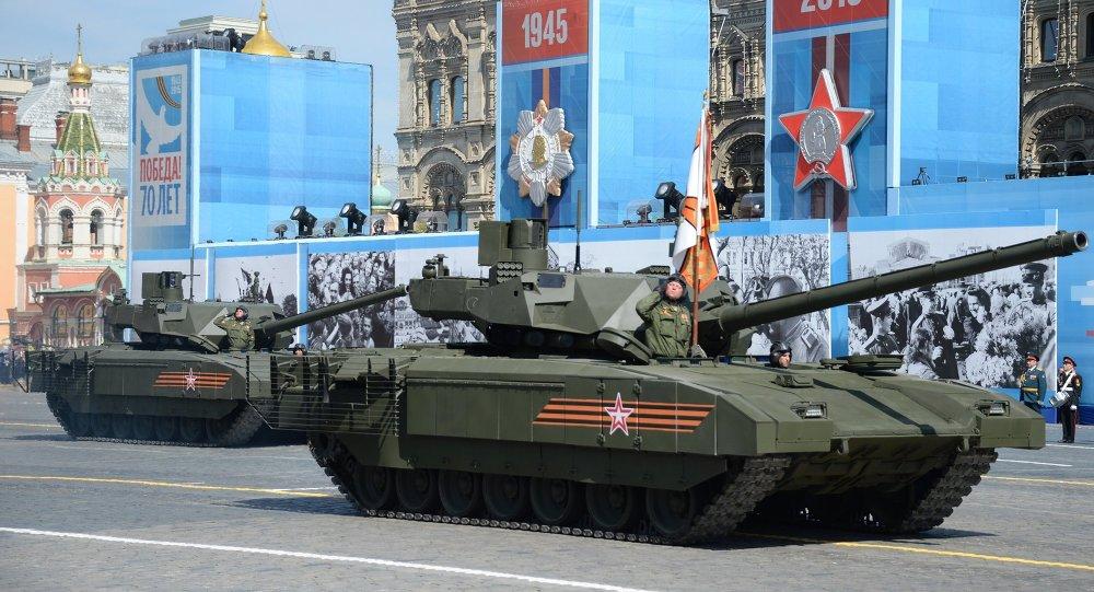 Alla parata della Vittoria sfila il nuovissimo carro armato Armata.