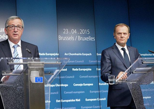 Donald Tusk e Jean-Claude Juncker