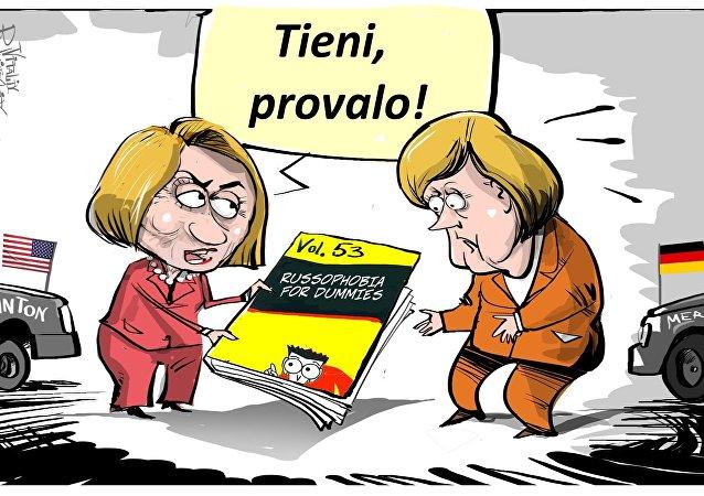 Merkel e Clinton