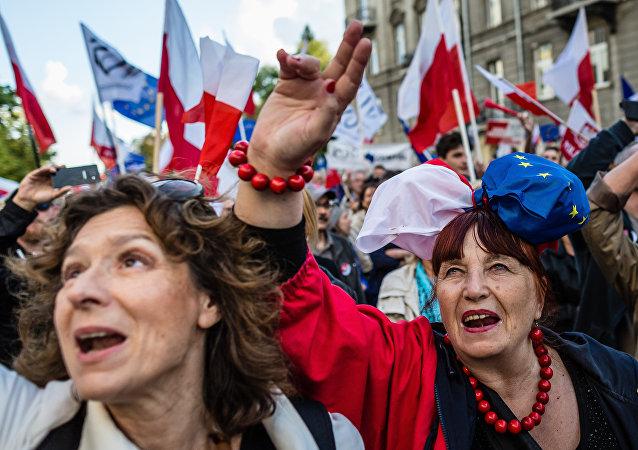 Donne polacche in manifestazione