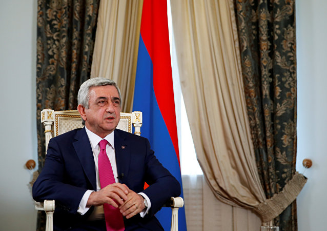 Il presidente armeno Serzh Sargsyan