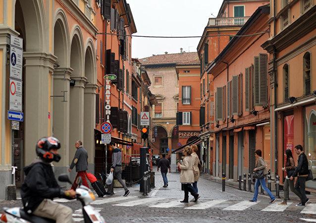 Una via di Bologna