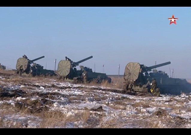 Mortai semoventi russi Tyulpan