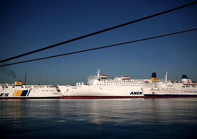 Il porto di Piraeus, Atene