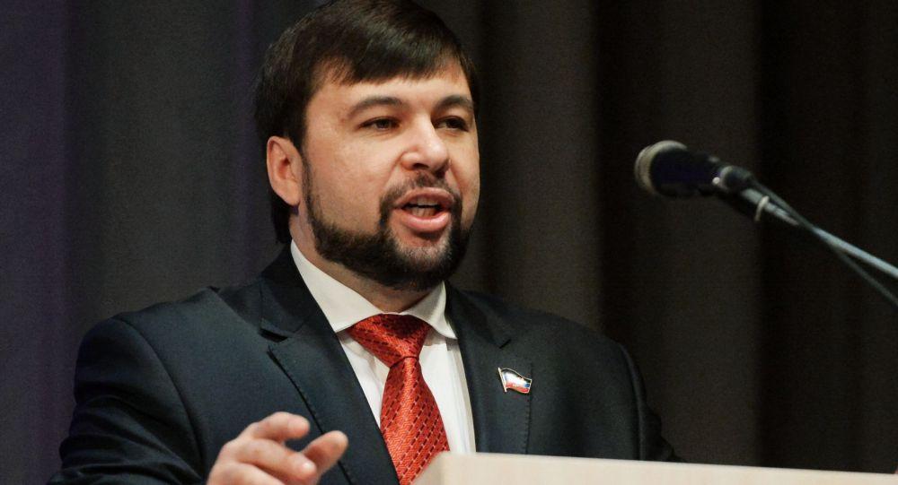 Vice speaker del Consiglio popolare della DNR Denis Pushilin