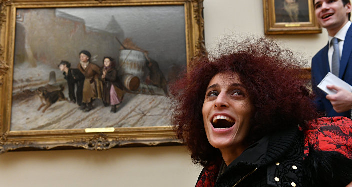 Letizia Renis in visita alla Galleria Tretyakovskaya