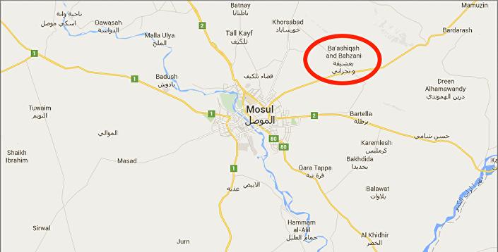 La base di Bashiqa, vicino a Mosul
