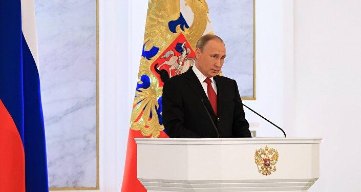 Il presidente Putin nel suo discorso all'Assemblea Federale