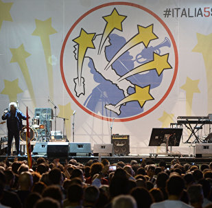 Il leader del Movemento 5 stelle Beppe Grillo