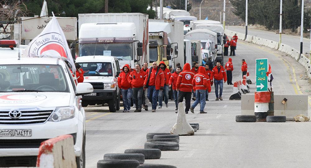 Volontari della Mezzaluna Rossa siriana