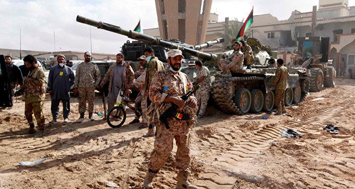 Militari dell'esercito libico