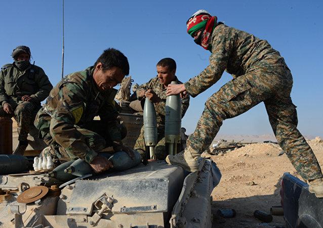 Esercito siriano vicino a Palmira