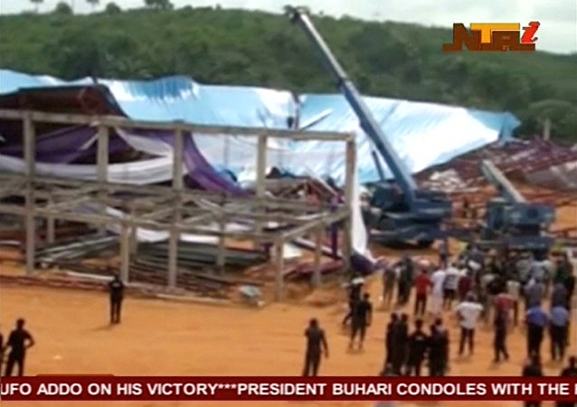 Chiesa crollata in Nigeria