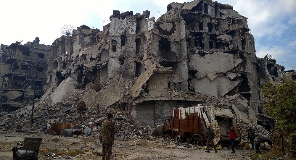 Segni della guerra ad Aleppo