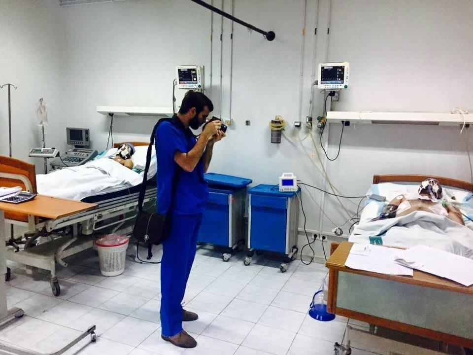 Sebastiano Caputo all'ospedale Youssef Al Asma di Damasco