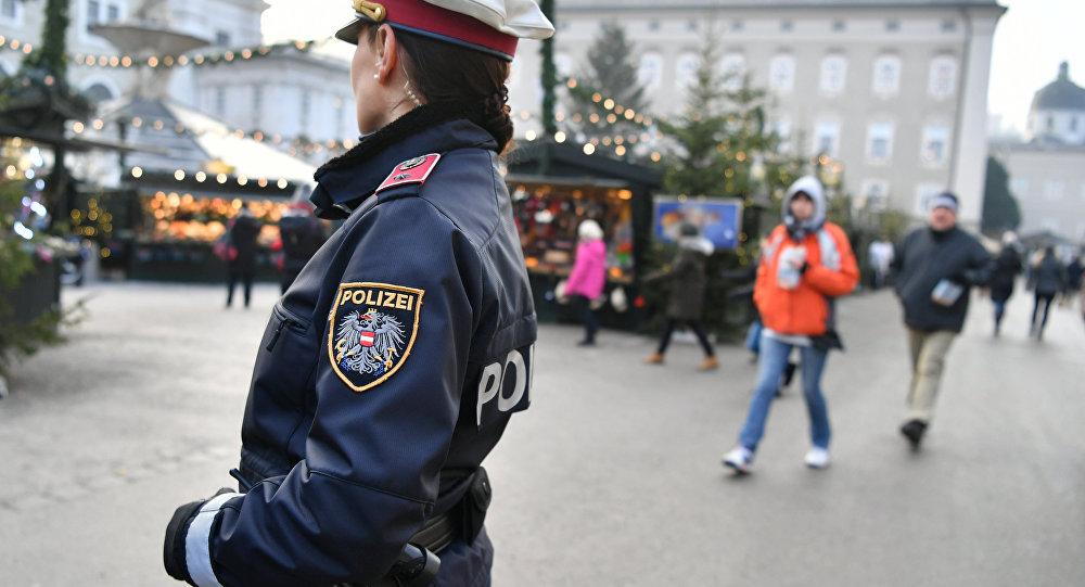 Un agente della polizia tedesca a Salisburgo