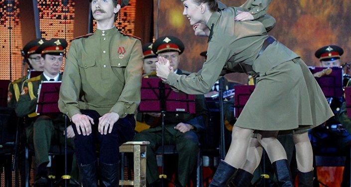 Un'esibizione del coro Aleksandrov