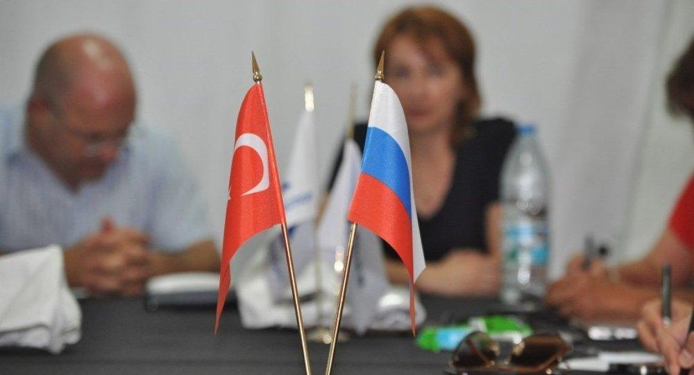 Bandiere di Russia e Turchia
