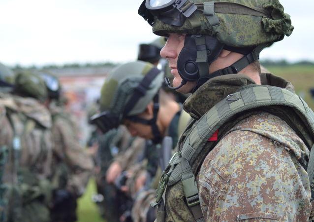 Uomini della Guardia Nazionale russa
