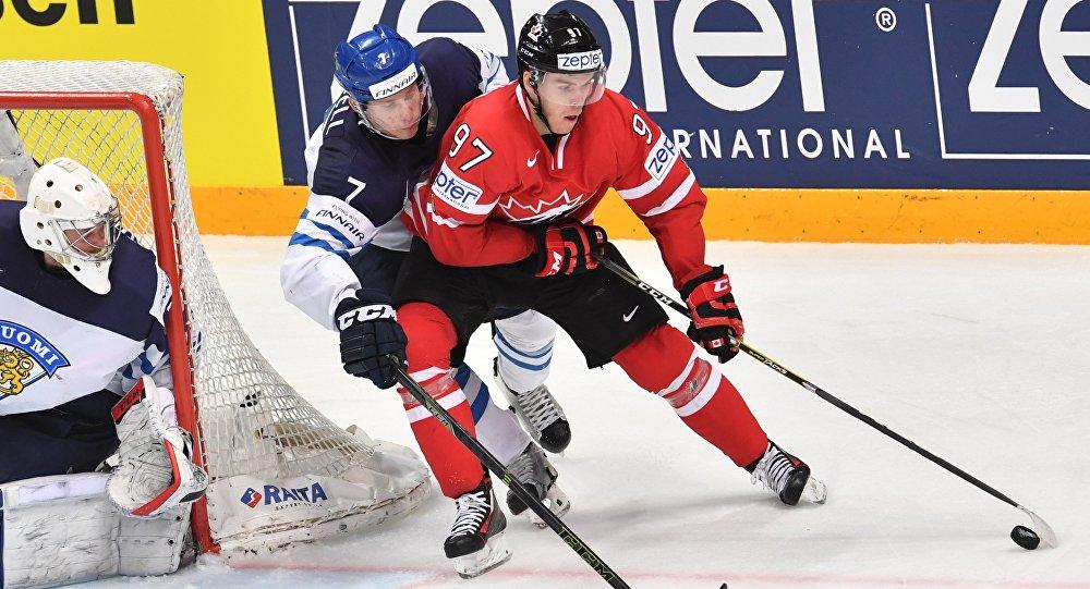 Partita di hockey su ghiaccio