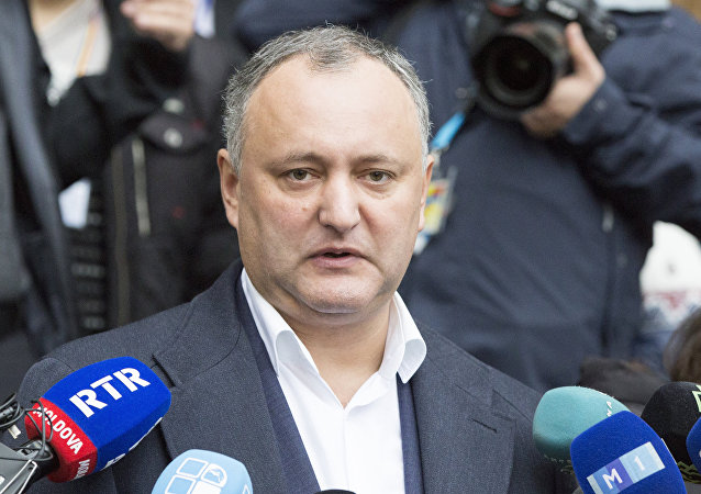 Presidente moldavo Igor Dodon