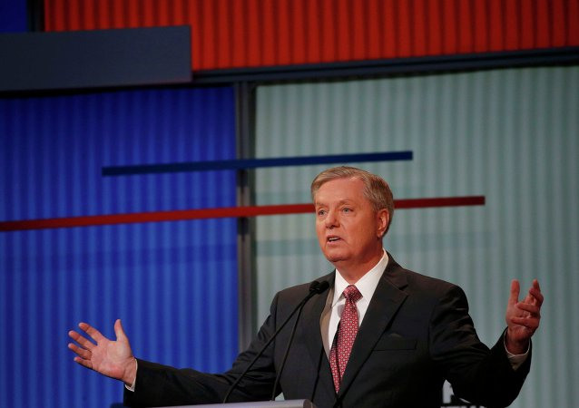 Republican presidential candidate and U.S. Senator Lindsey Graham responds to a question at a Fox-sponsored forum for lower polling candidates held before the first official Republican presidential candidates debate of the 2016 U.S. presidential campaign in Cleveland, Ohio, August 6, 2015