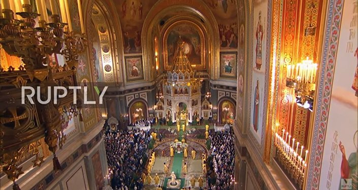 La messa di Natale a Mosca