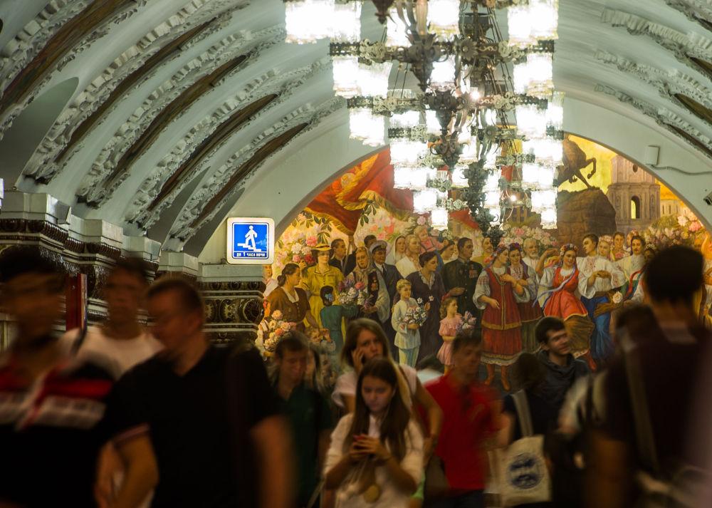 La stazione Kievskaya nella metro di Mosca.
