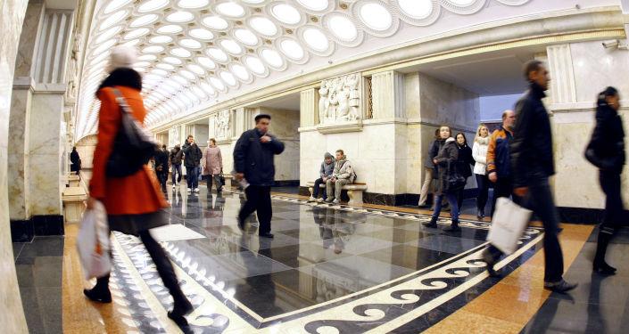 La stazione della metro di Mosca Elektrozavodskaya.