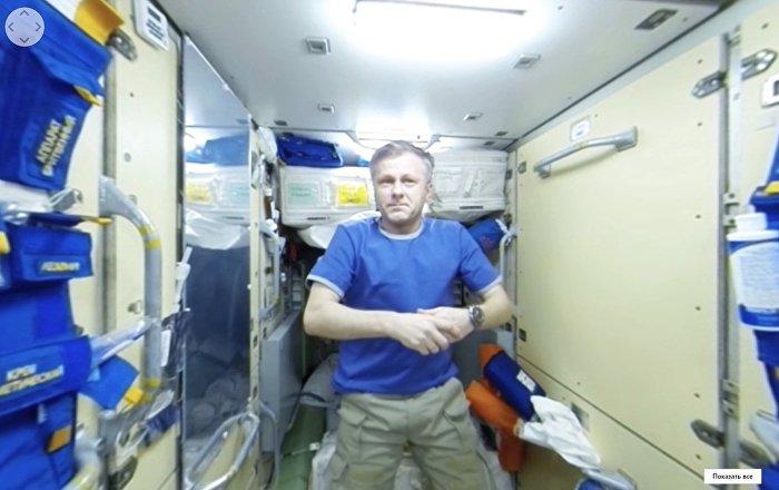 Cosmonauta russo Andrei Borisenko sulla ISS