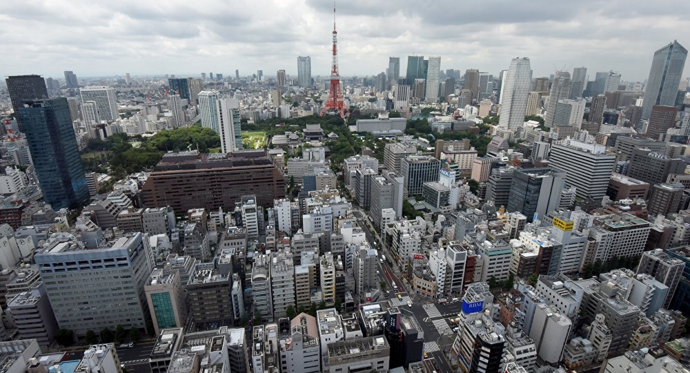 The picture shows a general view of Tokyo