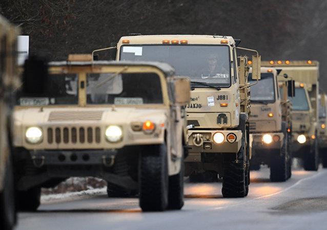 Mezzi militari USA verso l'Europa orientale