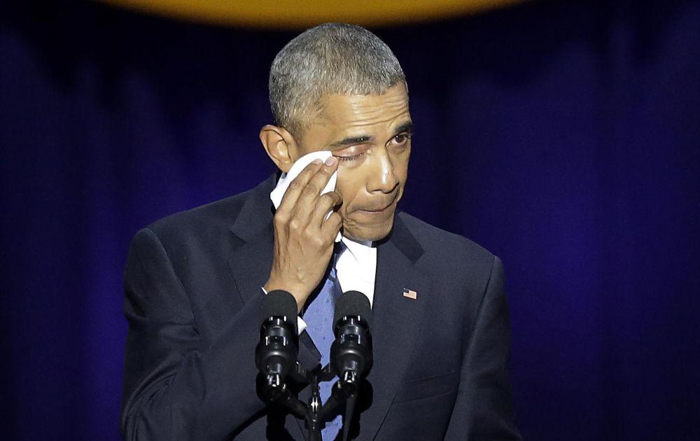 Il presidente Barack Obama fa l'ultimo discorso come capo dello Stato.