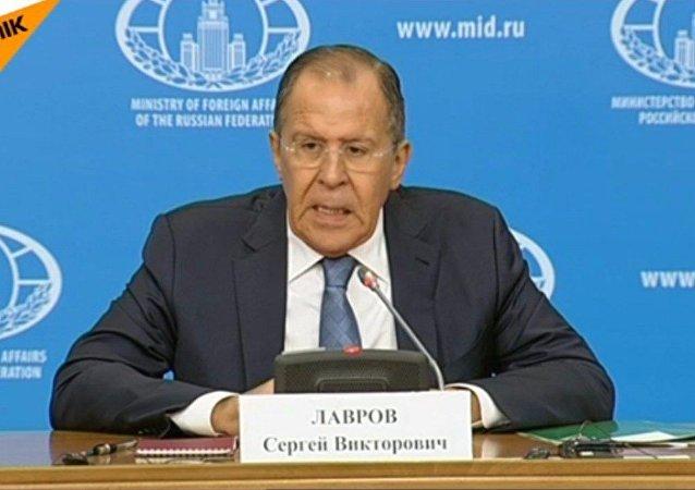 Conferenza Stampa del Ministro degli Esteri russo Sergey Lavrov