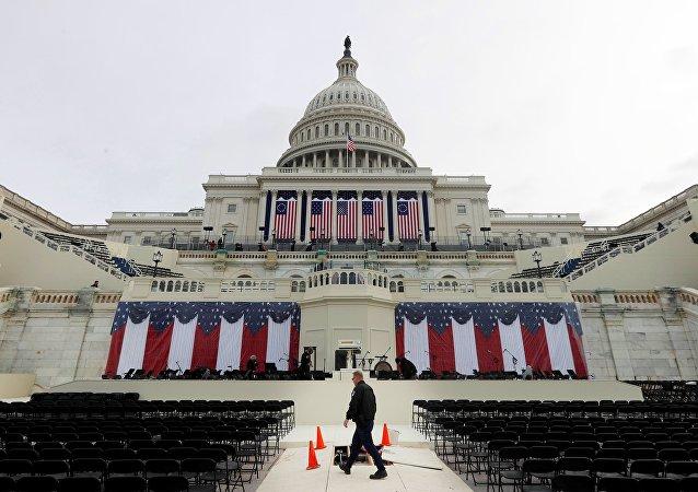Il Campidoglio durante la cerimonia d'insediamento di Donald Trump
