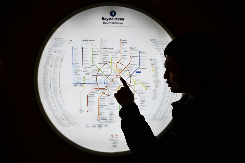 La mappa della metropolitana di Mosca.
