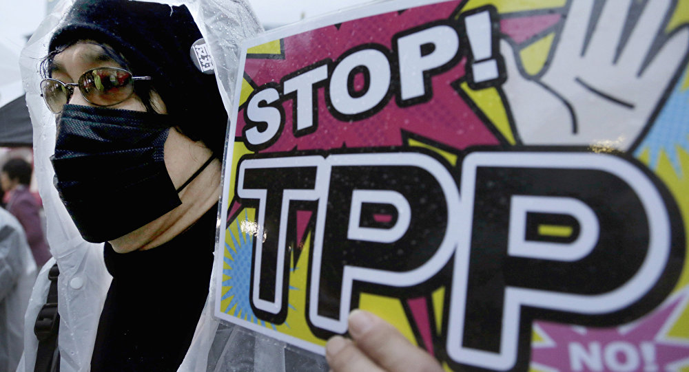Proteste contro il TPP (foto d'archivio)