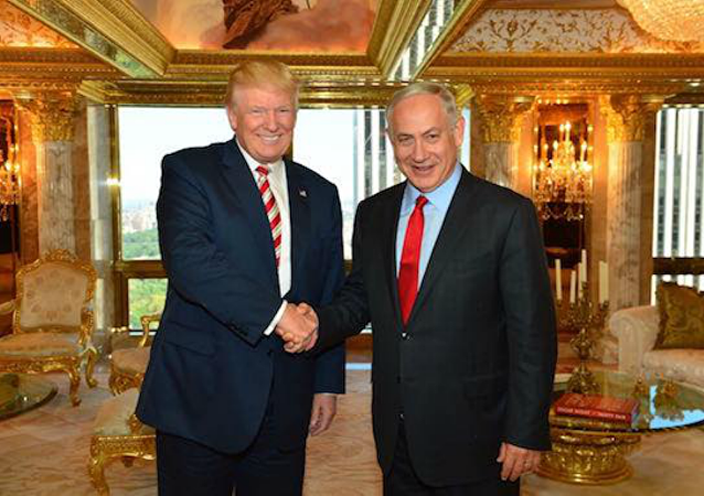 Trump e il premier dell'Israele Netanyahu in Trump Tower