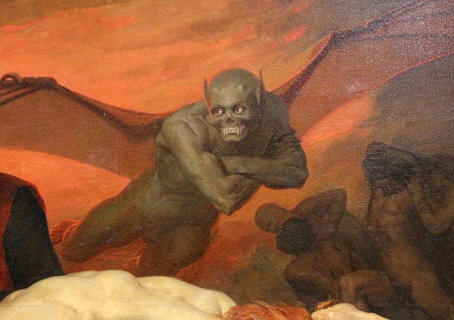Il Diavolo della Divina Commedia illustrata da William Bouguereau