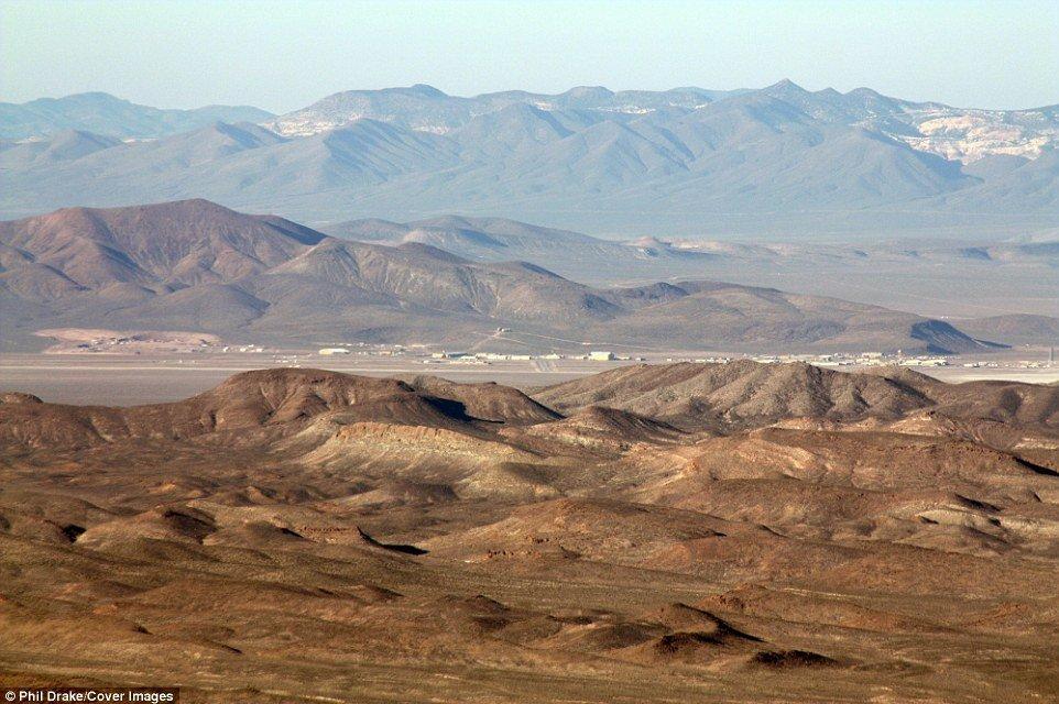 Il deserto intorno all'Area 51
