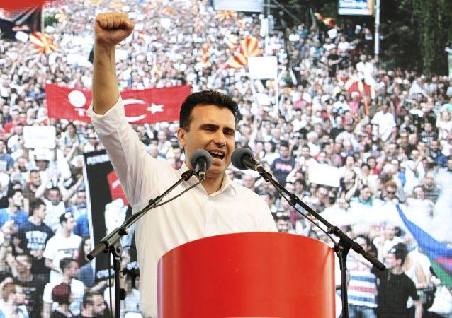 Il leader dell'opposizione macedone Zoran Zaev.
