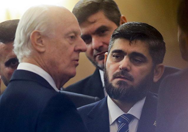 Mohammed Alloush, rappresentante dell'opposizione siriana