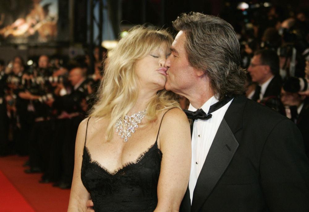 Gli attori americani Goldie Hawn e Kurt Rassel.