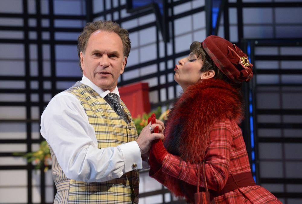 Gli attori russi Aleksey Guskov e Lidia Velezheva.