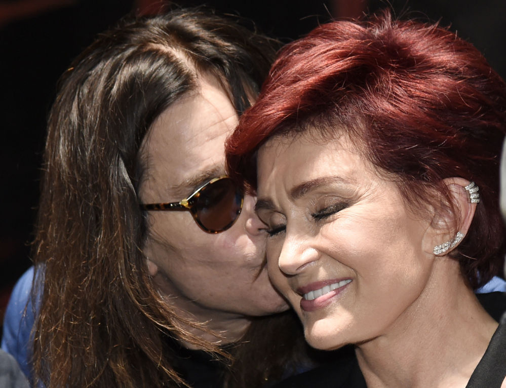 Il musicista Ozzy Osbourne e sua moglie Sharon Osbourne.