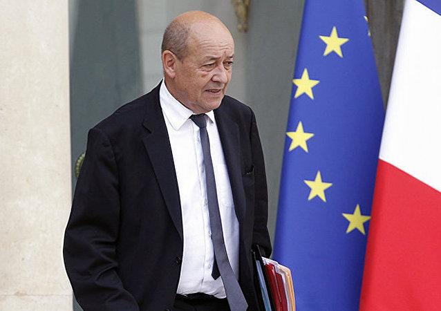 Jean-Yves Le Drian, ministro della Difesa francese