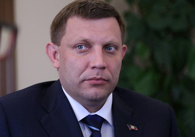 Zakharchenko, presidente dell'Autoproclamata repubblica di Donetsk