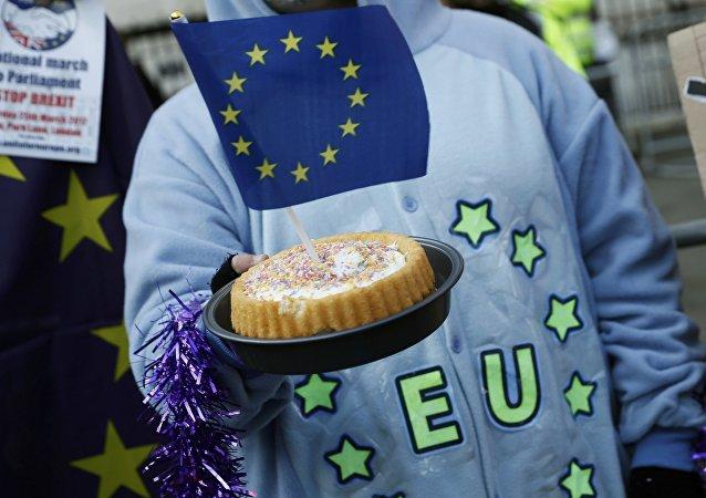 Torta con una bandiera dell'UE
