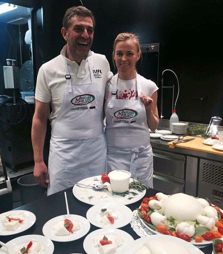 Donato Parisi con la moglie Tata